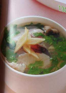 香菜皮蛋魚片湯