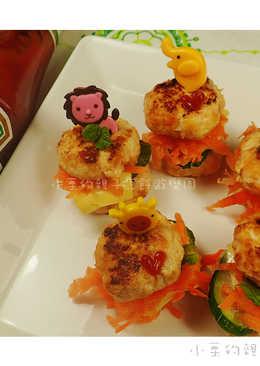 [亨氏番茄醬]鈕釦雞肉漢堡包