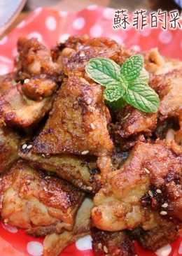 蜂蜜芥末韓式炸雞排~冷了依舊酥脆多汁的喔