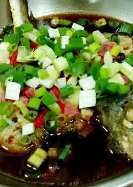 豆鼓辣椒蒸黃魚
