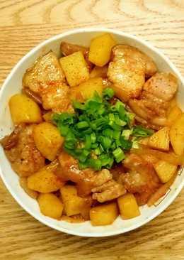 馬鈴薯五花肉丼