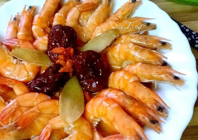 麻油红枣枸杞虾 | 食谱 | 做法