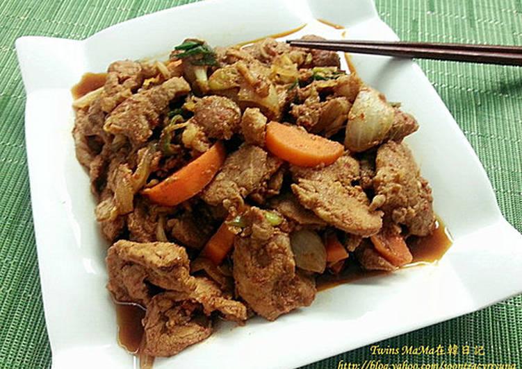 韓國料理 ~ 韓國辣醬炒豬肉