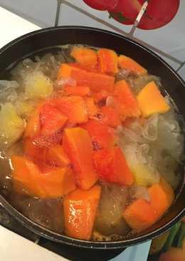 木瓜南北杏煲新鮮雪耳糖水