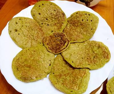 綠茶熱香餅 (無麵粉)