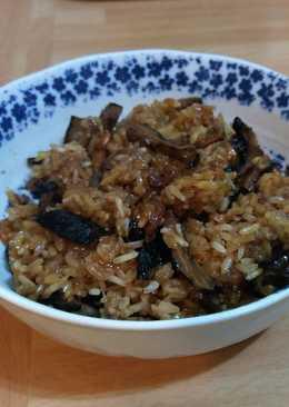 香菇油飯 (無肉版)*電鍋料理*