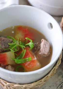 消暑瓜香排骨湯