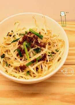 炒肉燥豆芽菜