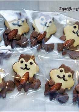 可愛松鼠造型餅乾