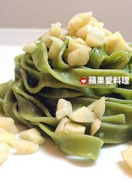 蒜香橄欖油菠菜義大利麵(5分鐘)