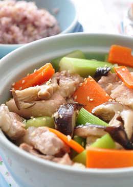 翠玉菇香炒豚片