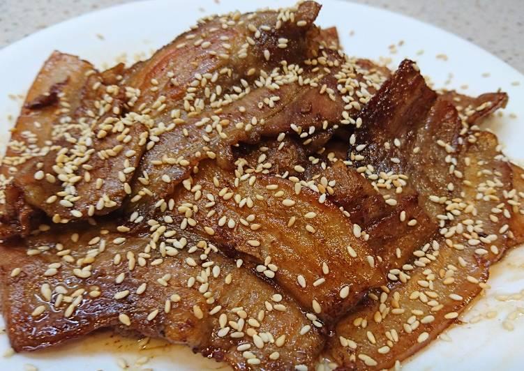 松香芝麻五花烤肉片