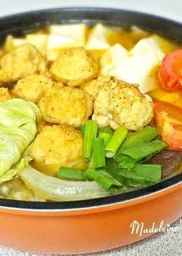 健康低脂雞肉丸子鍋