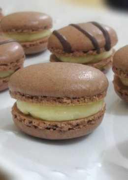 巧克力雲呢拿馬卡龍Chocolate Macaron(Vanilla Filling)