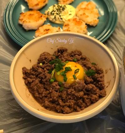 中式窩蛋免治牛肉