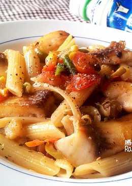 香煎鯛魚番茄義大利麵