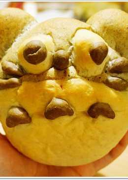 ♥毛毛♥龍貓地瓜芝麻麵包,中種麵糰變化
