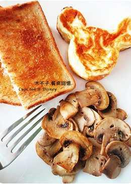 5分鐘橄欖油椒鹽蘑菇__迪士尼必吃美食