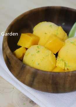 芒果蜂蜜冰淇淋(免冰淇淋機、免刮)