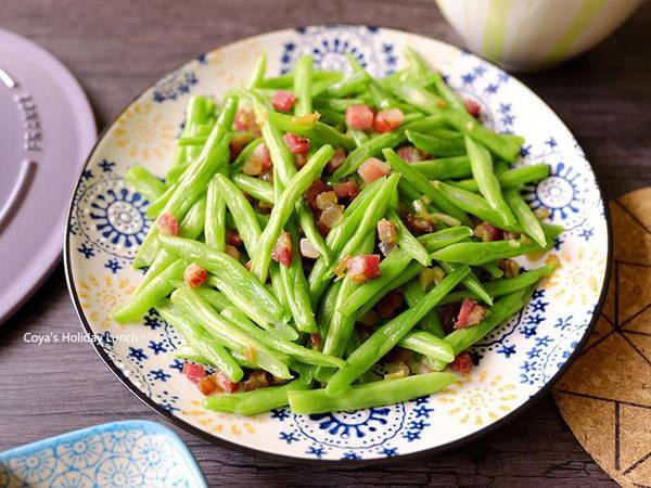 臘肉蒜炒四季豆