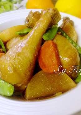 蘿蔔燉雞腿(電鍋版)