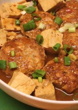 豆腐肉丸子麻婆煮