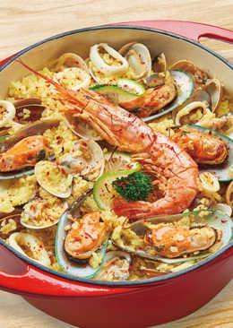 【家樂福廚房】西班牙海鮮燉飯