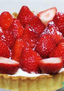 自製草莓奶油起司塔 (內含馬斯卡彭奶油)