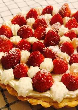 草莓鮮奶油乳酪派
