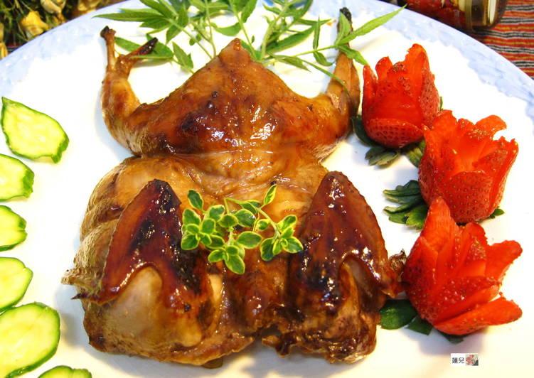 紅酒燒醬烤鵪鶉