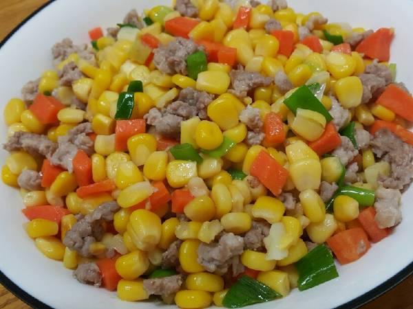 玉米炒絞肉