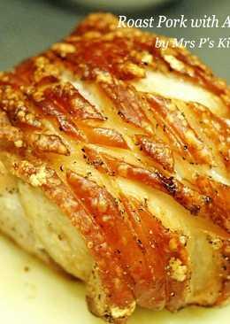 脆皮烤豬佐蘋果果泥