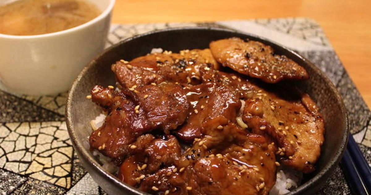 豚丼(燒肉蓋飯)食譜 by 野犬的廚房