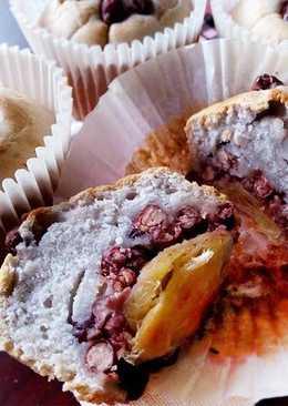 酥底紅豆芋頭杯子蛋糕〞免打發的3層次蛋糕