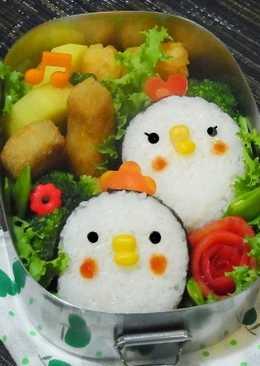 [親子便當]小雞飯糰
