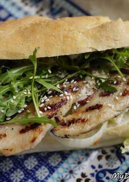 夏日開胃~燒烤雞肉沙拉三明治