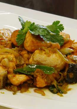 酸菜炒鮭魚(豆油伯純釀醬油食譜)