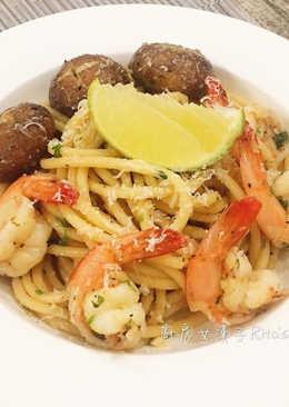 蒜味鮮蝦意大利麵