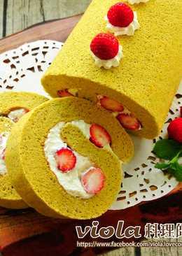 抹茶草莓蛋糕捲「一起吃有機」