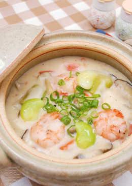 【北海道白醬燉】和風豆腐奶油海鮮燉菇