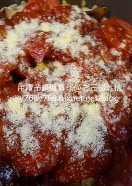 『蕃茄義大利肉醬麵』電子鍋版