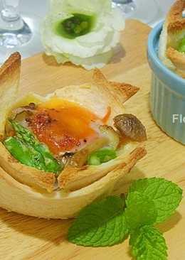 [菇菇巧思]菇菇烤蛋吐司盅