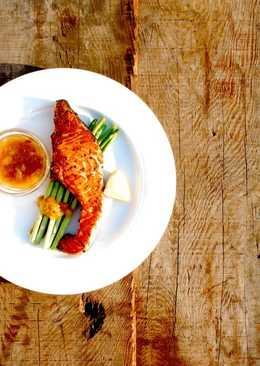 果醬料理-香煎鮭魚佐椪柑白酒醬