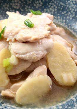 【厚生廚房】蔥香雞片炒竹芋