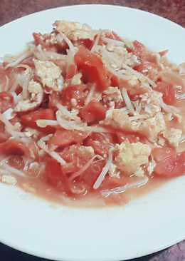 豆牙菜蕃茄炒蛋