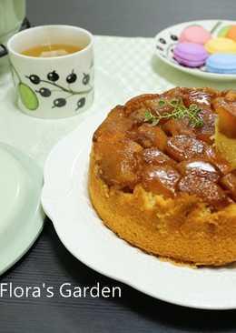 鑄鐵鍋做焦糖蘋果反烤蛋糕