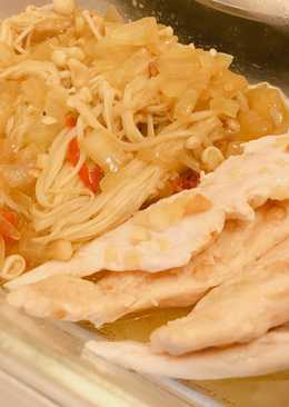 大同電鍋 洋蔥炒金針菇雞肉