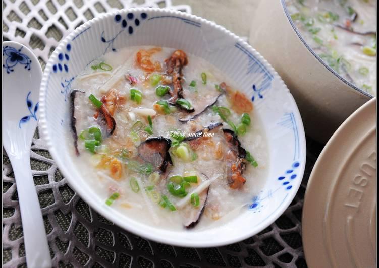 蚵乾香菇粥
