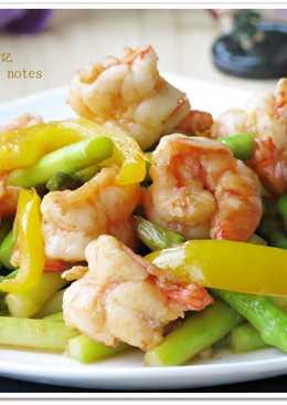 [蘆筍炒蝦仁]簡易快速家常菜