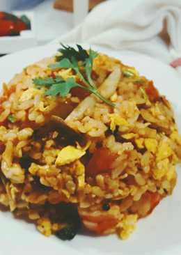 莎莎醬鮮蝦番茄炒飯~便當菜